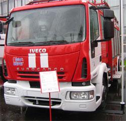 Автоцистерна пожарно-спасательного отряда по Приморскому району Санкт-Петербурга с установленной системой Экспресс диагностика АКБ